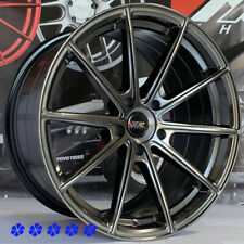 XXR 568 Wheels Chromium Black 18 +38 Staggered Rims 5x114.3 Fit Infiniti G35 G37
