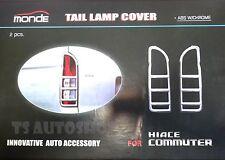 CHROME TAIL LIGHT LAMP COVER TRIM FOR TOYOTA HIACE COMMUTER VAN 2008-2014