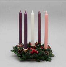 Advent Candle Set of 6 with decorated wreath.
