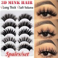 5 Pairs 3D Mink Lashes False Eyelashes Long Lasting Lashes Natural Lightweight
