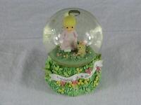Vintage 2000 Precious Moments Enesco Musical Figurine Water Globe Music Box