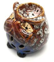 Speak No Evil Brown Owl Ceramic Oil Burner (owlobx-01b-brown)