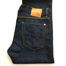 Baldwin Men's Jeans Reed Classic Straight size 33 Japanese Selvedge Denim Dark