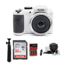 Kodak PIXPRO AZ252 Digital Camera (White) with 32GB SD Card and Battery Bundle