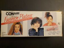 VINTAGE 1988 Conair CS100A Fashion Plates Pink Crimper Wave Straighten Iron NEW