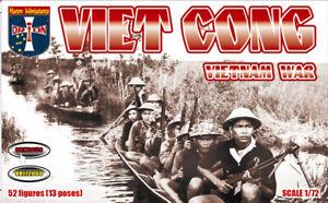 Viet Cong, Vietnam War (52 figures, 13 poses)  1/72 Orion 72059