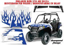 Amr racing decoración Graphic kit ATV Polaris rzr 570/800/900 Diamond Flames B