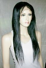 Full lace wig 100% indian remy human hair 20'' color 1 perruque indétectable