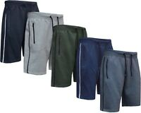 Mens Summer Sports Running GYM Training Elastic Jogging Fleece Plain Short S-XXL