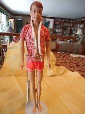 Vtg 1964 Barbie Ken's Friend Allan #1000 Straight Legs Mold Hair Swimsuit Jacket