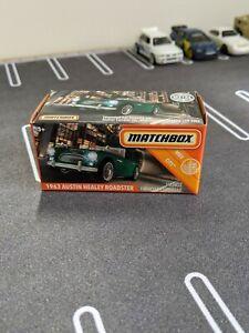 Matchbox 1963 Austin Healy in British Racing Green - Powergrab Box
