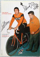 Eddy Merckx and Ernesto Colnago signed Hour Record poster 1972. Colnago promo.