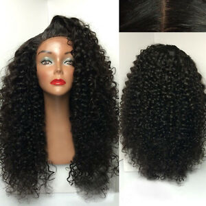 """Stock Full Lace Brazilian Natural Color Jerry Curl Human Hair Wig 12-28"""" 250%"""