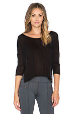 NWT Solow Women's Haichi Scoopneck Tee in Black No Size