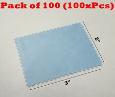 """100x Microfiber Cleaning Cloth 2x3"""" 60mmx80mm For Phone Screen Glass Camera Lens"""
