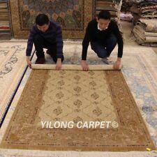YILONG 4.5'x6.5' Handmade Persian Carpets Porch Home Decor Silk Area Rug ZZ143