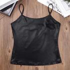 Women Sleeveless Shinny Crop Top Vest Bustier Cami Tank Tops Tee T-shirts Cheap!