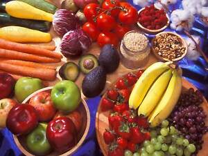 PHOTO FRUIT VEG FOOD APPLE AVOCADO BANANA TOMATO POSTER PRINT BB278B