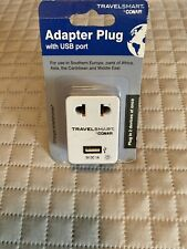 Conair TravelSmart Adapter Plug with Usb Port 5V *Foreign Outlets*