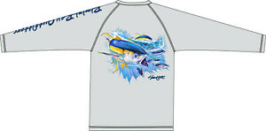 Bimini Bay Outfitters LS HOOK'M Cabo Crew Fishing Shirt TUNA YELLOW FIN