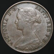 More details for 1861   victoria half-penny   bronze   coins   km coins