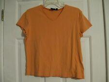 knit top t-shirt orange sonoma life style petite large 100% cotton