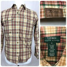 Ralph Lauren Traditional Sport Flyfishing Plaid Snap L/S Shirt Men's Small A1