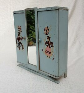 French Toy Armoire with Mirror 1970's