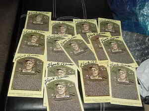 lot of (14) HANK AARON SIGNED AUTO autographed  yellow gold HOF PLAQUE baseball