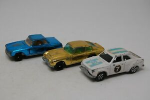 VINTAGE CORGI ROCKETS JAMES BOND ASTON MARTIN GOLD DB6/ FORD ESCORT +MERCEDES