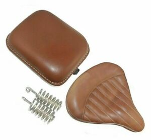 Royal Enfield Classic Pure Leather Front & Rear Saddle Seat Brown