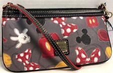 Nwt*Dooney & Bourke*Disney Parks*Mickey Parts*Large Slim Wristlet*18288F S166