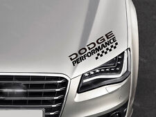 Dodge Performance Sticker for Bonnet RAM Charger Challenger SRT Journey Black