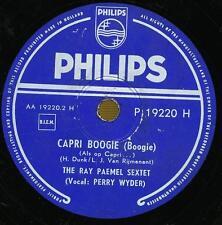 THE RAY PAEMEL SEXTET 78 TOURS RPM HOLLAND CAPRI BOOGIE