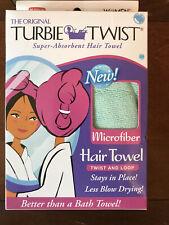 The Original Turbie Twist Super Absorbent Hair Towel Lt.Green New As Seen On TV