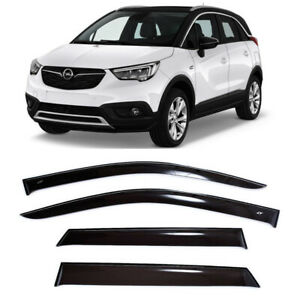 For Opel Crossland X 2017- Window Visors Side Sun Rain Guard Vent Deflectors