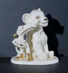 """Lenox Disney Showcase Lion King's Simba & Zazu Figurine ~ 5"""" Tall"""