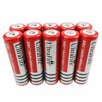 10x 18650 Akku Accu Batterie 6800mAh 3.7V Li-ion Rechargeable Battery Flashlight