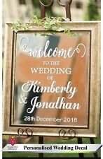 Personalised Wedding Frame Custom Venue Welcome Decor Mirror Vinyl Graphic