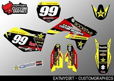 SUZUKI RMZ 250 2007 - 2009 FULL CUSTOM GRAPHICS KIT STICKERS MOTOCROSS DECALS MX