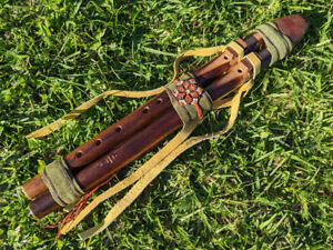 SOUTH AMERICAN SHAMANIC DOUBLE FLUTE Authentic Native American 432Hz Chakra D...