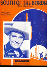 """GENE AUTRY Sheet Music """"South Of The Border"""" 1939"""