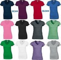 Gildan Ladies' Soft Style V-Neck T-Shirt