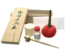 NEW JAPANESE SWORD CLEANING KIT Uchiko Brass Hammer Oil Rice Papers w/ Container