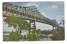 BOSTON MA Mystic River Bridge Vintage 1952 Postcard