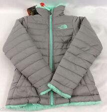 The North Face Girls Reversible Mossbud Swirl Jacket Metallic Silver YOUTH XXS 5