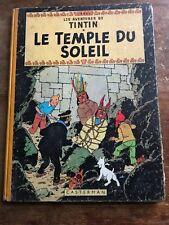 le temple du soleil B12 (1955)  Hergé casterman Côte BDM + 150e