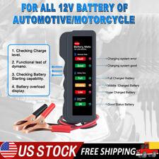 Car 12V Battery Tester Load Tester Alternator Analyzer Car Diagnostic Test Tool