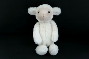 """Jellycat Bashful Lamb 12"""" White Cream Floppy Soft Plush Stuffed Animal Sheep"""