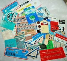 Huge Lot Vintage Sewing Fasteners Carded Needlework Wartime Sew Clasps Hook/Eyes